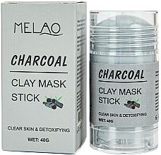 Düfte, Parfümerie und Kosmetik Reinigende und entgiftende Gesichtsmaske in Stick mit Aktivkohle - Melao Charcoal Clay Mask Stick
