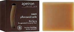 Düfte, Parfümerie und Kosmetik Beruhigende Pflanzenöl-Seife für gereizte und unreine Haut mit Lavandelduft - Apeiron Neem Plant Oil Soap