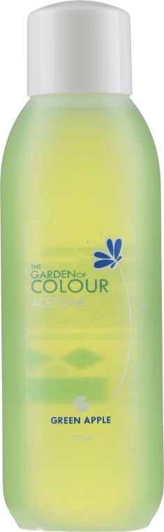 Acetonhaltiger Nagellackentferner mit grünem Apfelduft - Silcare The Garden Of Colour Aceton Green Apple