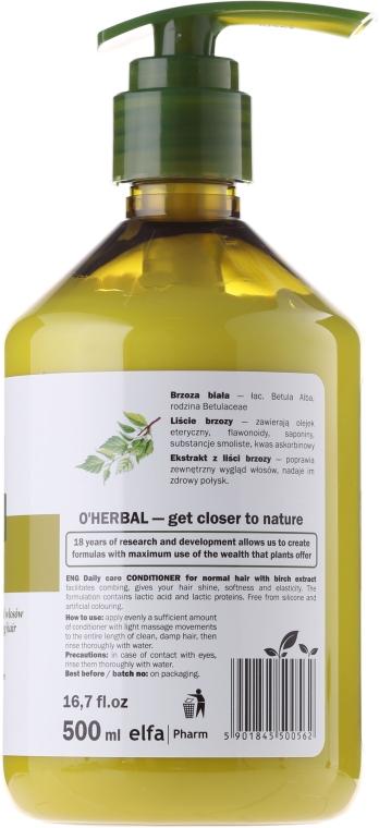 Haarspülung für normales Haar mit Birkenextrakt - O'Herbal Conditioner for normal hair — Bild N4
