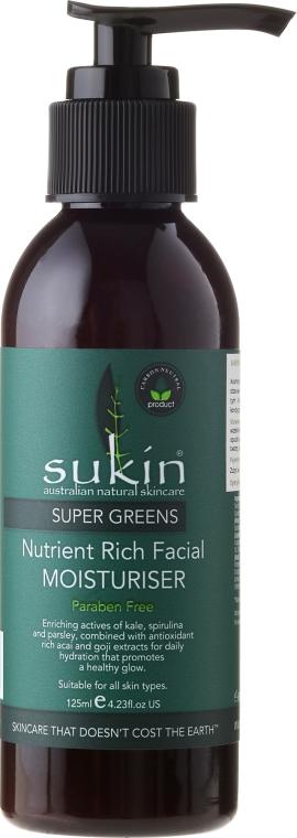 Feuchtigkeitsspendende Gesichtscreme mit Avocado- und Jojobaöl - Sukin Super Greens Facial Moisturiser