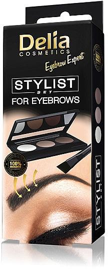 Augenbrauen Lidschatten-Palette - Delia Cosmetics Eyebrow Expert Stylist Set