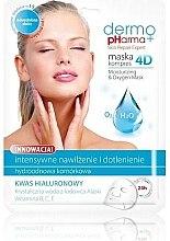 Düfte, Parfümerie und Kosmetik Feuchtigkeitsspendende Sauerstoffmaske mit Hyaluronsäure - Dermo Pharma Skin Repair Expert Skin Lightening Face Mask 4D