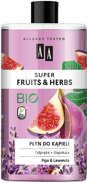 Entspannendes und beruhigendes Schaumbad mit Feige und Lavendel - AA Super Fruits & Herbs Bath Foam