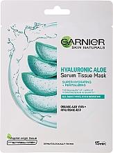 Düfte, Parfümerie und Kosmetik Feuchtigkeitsspendende und regenerierende Tuchmaske für das Gesicht mit Hyaluronsäure und Aloe Vera - Garnier Skin Naturals Hyaluronic Aloe Tissue Mask