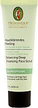 Düfte, Parfümerie und Kosmetik Hautklärendes Gesichtspeeling mit Bio-Salbei und Bio-Traube - Primavera Balancing Deep Cleansing Face Scrub