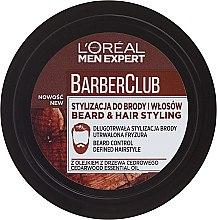 Düfte, Parfümerie und Kosmetik Bart- und Haarcreme Mittlerer Halt - L'Oreal Paris Men Expert Barber Club