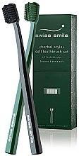 Düfte, Parfümerie und Kosmetik Zahnbürsten sensitiv weich in schwarz und grün 2 St. - Swiss Smile Herbal Bliss Two Toothbrushes