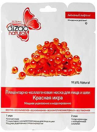 Gesichtsmaske in Zweiphasen mit rotem Kaviar - Dizao