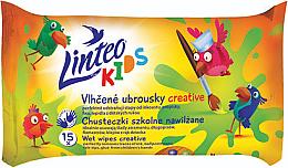 Düfte, Parfümerie und Kosmetik Sanfte und beruhigende Feuchttücher für Kinder 15 St. - Linteo Kids Creative