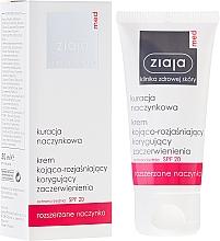 Düfte, Parfümerie und Kosmetik Beruhigende und aufhellende Gesichtscreme gegen Rötungen SPF 20 - Ziaja Med Soothing And Whitening Cream SPF 20