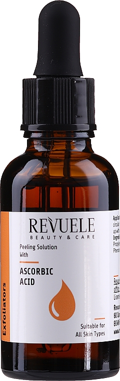 Porenverfeinerndes Gesichtspeeling mit Ascorbinsäure - Revuele Peeling Solution Ascorbic Acid Exfoliator