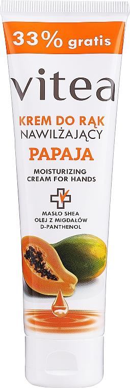 Feuchtigkeitsspendende und glättende Handcreme mit Papaya - Vitea Moisturizing Hand Cream Papaja