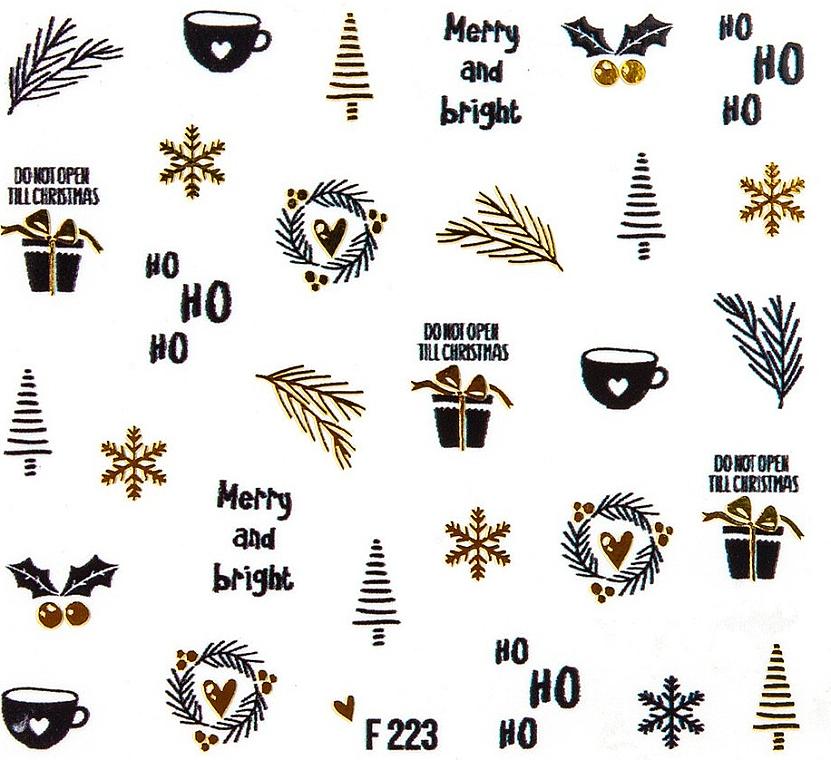 Dekorative Nagelsticker Weihnachten 2020 - Peggy Sage Christmas 2020