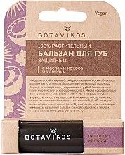 Düfte, Parfümerie und Kosmetik 100% natürlicher schützender Lippenbalsam mit Kokos- und Kamelienöl - Botavikos Lip Balm