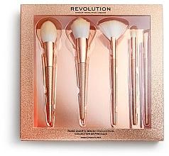 Düfte, Parfümerie und Kosmetik Make-up Pinsel-Set - Makeup Revolution Precious Stone Brush Rose Quartz