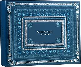 Düfte, Parfümerie und Kosmetik Versace Man Eau Fraiche - Duftset (Eau de Toilette 50ml + Duschgel 50ml + After Shave Balsam 50ml)