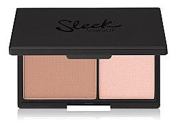 Düfte, Parfümerie und Kosmetik Mattierender Gesichtspuder und Highlighter - Sleek MakeUP Face Contour Kit