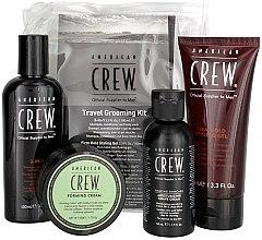 Düfte, Parfümerie und Kosmetik Haarpflegeset - American Crew Travel Grooming Kit (Haargel 100ml + Haarwachs 50g + Styling-Gel 100ml+ Haarcreme 50ml)