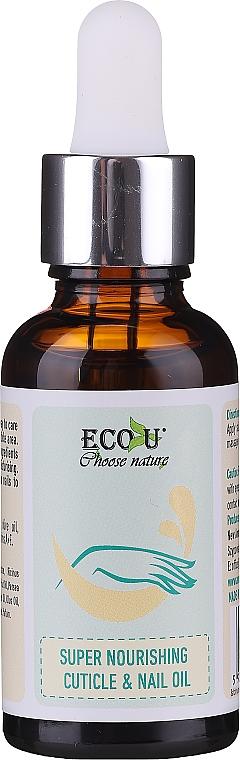 Pflegende Nagel- und Nagelhautöl - Eco U Super Nourishing Cuticle & Nail Oil