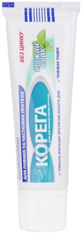 Zahnprothesen-Fixiercreme mit erfrischendem Geschmack - Corega — Bild N3