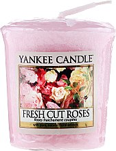 Düfte, Parfümerie und Kosmetik Duftkerze Fresh Cut Roses - Yankee Candle Scented Votive Fresh Cut Roses