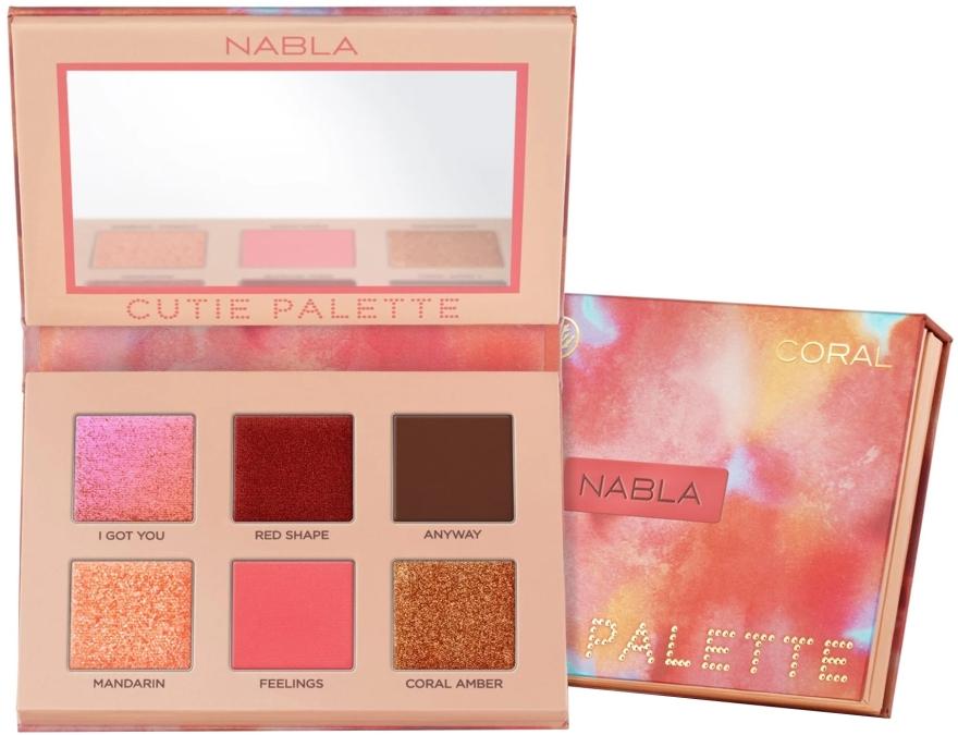 Lidschatten-Palette - Nabla Cutie Collection Palette Coral