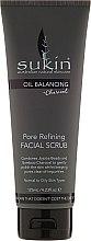 Düfte, Parfümerie und Kosmetik Gesichtspeeling mit Kokosöl und Rooibostee - Sukin Oil Balancing Plus Charcoal Pore Refining Facial Scrub