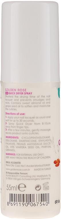 Nagellacktrockner-Spray - Golden Rose Nail Quick Dryer Spray — Bild N2