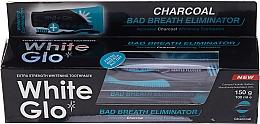 Düfte, Parfümerie und Kosmetik Zahnpflege-Set - White Glo Charcoal Bad Breath Eliminator (Erfrischende Zahnpasta 100ml + Zahnbürste schwarz-blau 1 St.)