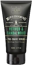 Düfte, Parfümerie und Kosmetik Pre-Shave Gesichtspeeling mit Vetiver und Sandelholz - Scottish Fine Soaps Vetiver & Sandalwood Pre-shave Scrub