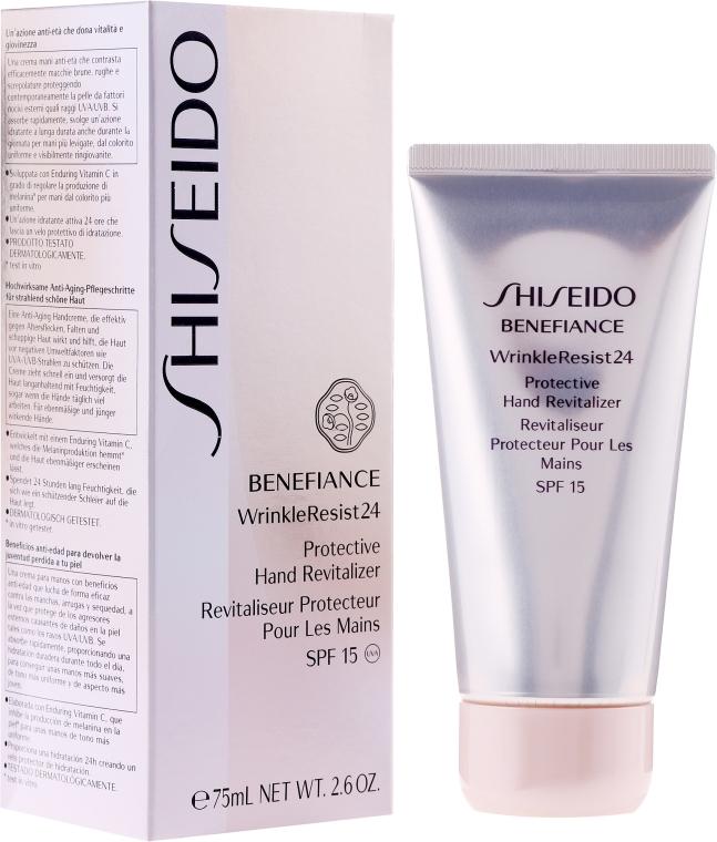 Anti-Aging Handcreme - Shiseido Benefiance WrinkleResist 24 Protective Hand Revitalizer — Bild N1