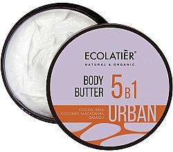 Düfte, Parfümerie und Kosmetik 5in1 Körperbutter mit Kakao, Shea, Kokos, Macadamia und Babassu - Ecolatier Urban Body Butter