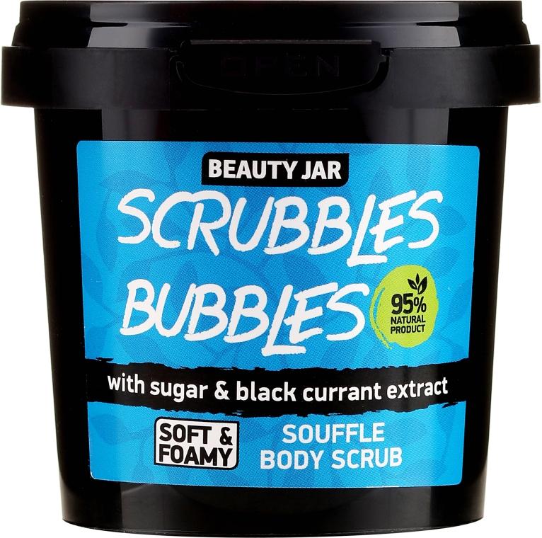 Körperpeeling mit Zucker und schwarzen Johannisbeeren - Beauty Jar Souffle Scrubbles Bubbles Body Scrub
