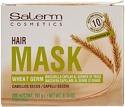 Düfte, Parfümerie und Kosmetik Pflegende Haarmaske mit Weizenkeimöl - Salerm Mascarilla Capilar