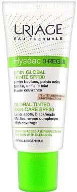 Getönte Gesichtspflege für fettige Haut SPF 30 - Uriage Hyseac 3-Regul Global Tinted Skin-Care SPF 30