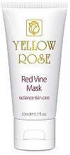 Düfte, Parfümerie und Kosmetik Maska do twarzy z ekstraktem z czerwonego wina - Yellow Rose Red Vine Mask