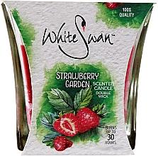Düfte, Parfümerie und Kosmetik Duftkerze im Glas Strawberry Garden - White Swan Strawberry Garden