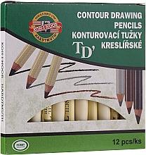 Düfte, Parfümerie und Kosmetik Augenkonturen- und Augenbrauenstifte (12 St.) - Koh-I-Noor Contour Drawing Pencils