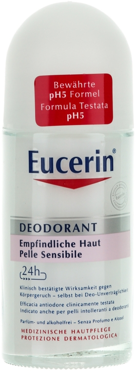 Deo Roll-on für empfindliche Haut - Eucerin Deodorant Empfindliche Haut 24h roll-on — Bild N1