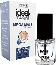 Düfte, Parfümerie und Kosmetik Top Nagellack mit Matt-Effekt - Ingrid Cosmetics Ideal+ Nail Care Definition Mega Matt Top Coat