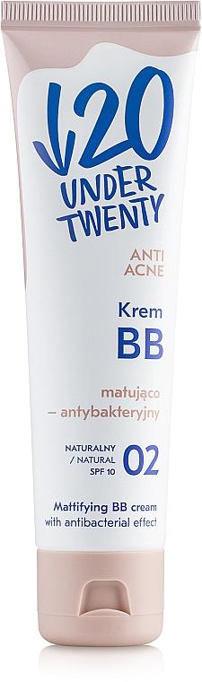 Antibakterielle BB Creme gegen Akne LSF 10 - Under Twenty Anti Acne Matting Cream