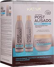 Düfte, Parfümerie und Kosmetik Haarpflegeset - Kativa Straightening Post Treatment Keratin (Shampoo 250ml + Conditioner 250ml + Haarbehandlung 250ml)