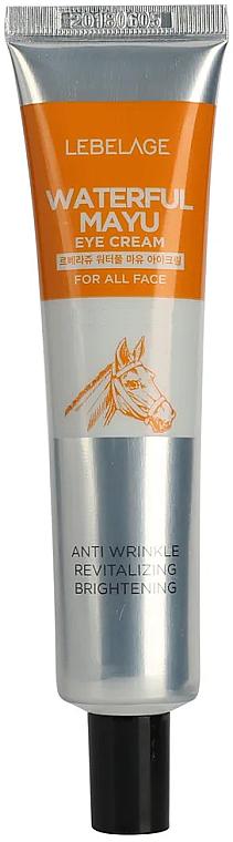 Revitalisierende, aufhellende und feuchtigkeitsspendende Anti-Falten Augenkonturcreme mit Pferdeöl - Lebelage Waterfull Mayu Eye Cream