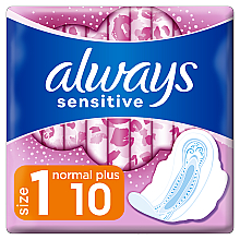 Düfte, Parfümerie und Kosmetik Damenbinden mit Flügeln Normal Plus 10 St. - Always Sensitive Ultra Normal Plus