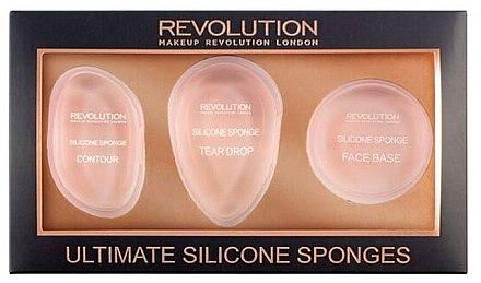 Silikon Make-up Applikator-Set 3 St. - Makeup Revolution Ultimate Silicone Sponge Set — Bild N1