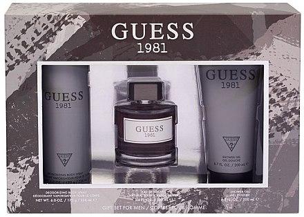 Guess 1981 For Men - Duftset (Eau de Toilette/100ml + Duschgel/200ml + Deodorant/226ml)