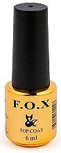 Düfte, Parfümerie und Kosmetik UV Überlack für Gel - F.O.X Top Steel