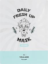 Düfte, Parfümerie und Kosmetik Tuchmaske für das Gesicht mit Teebaumextrakt - Village 11 Factory Daily Fresh Up Mask Tea Tree