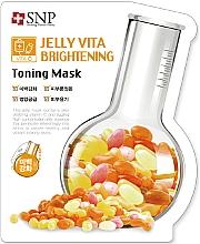 Düfte, Parfümerie und Kosmetik Aufhellende Tuchmaske für das Gesicht mit Vitamin C - SNP Jelly Vita Brightening Toning Mask